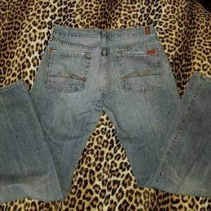 7 FOR ALL MANKIND FLARE SZ 31 DENIM BLUE JEANS